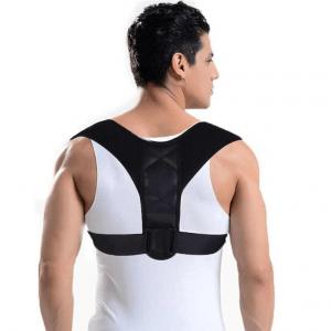 man wearing a posture corrector
